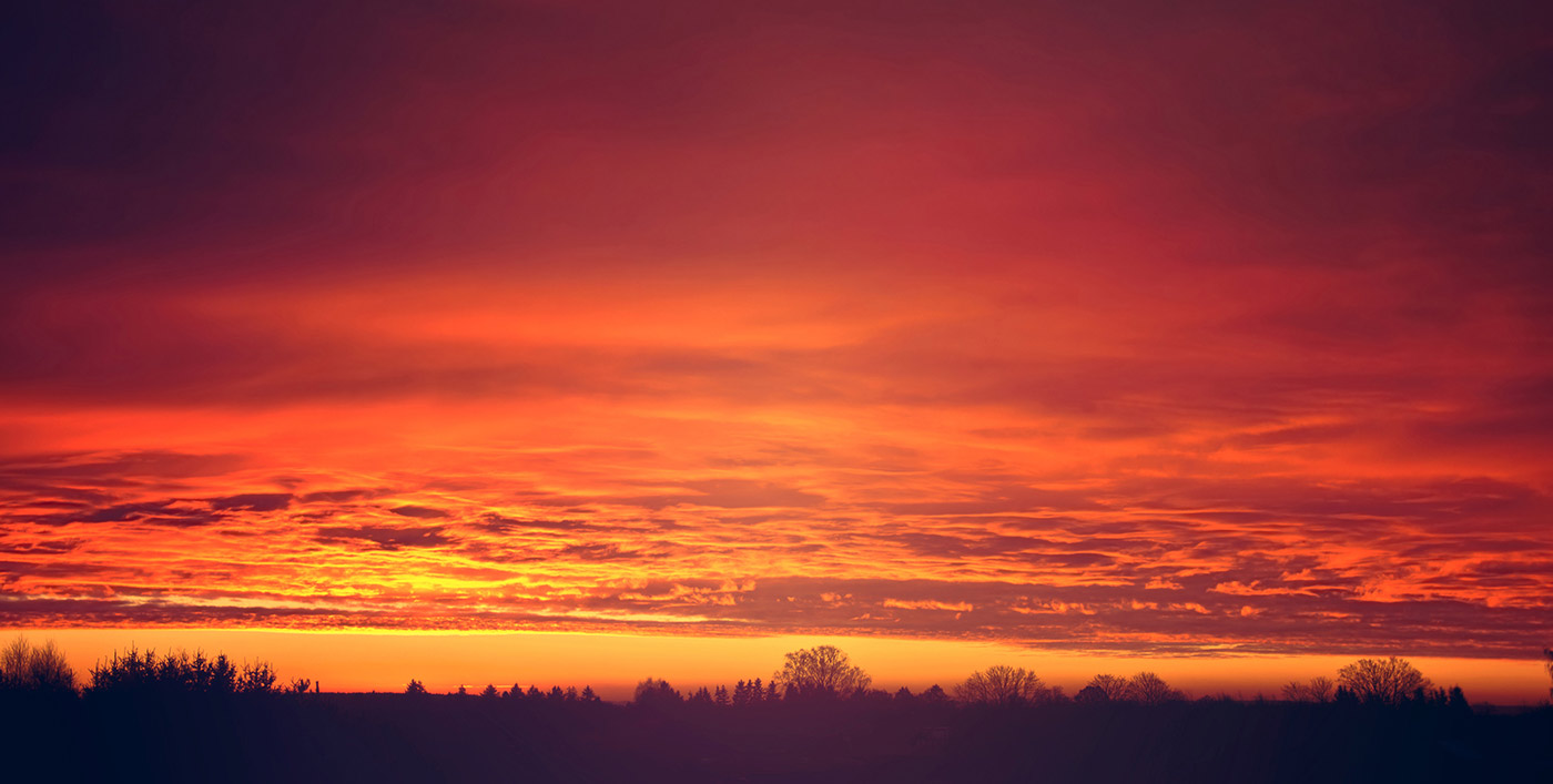 Soleil couchant sur Belfort